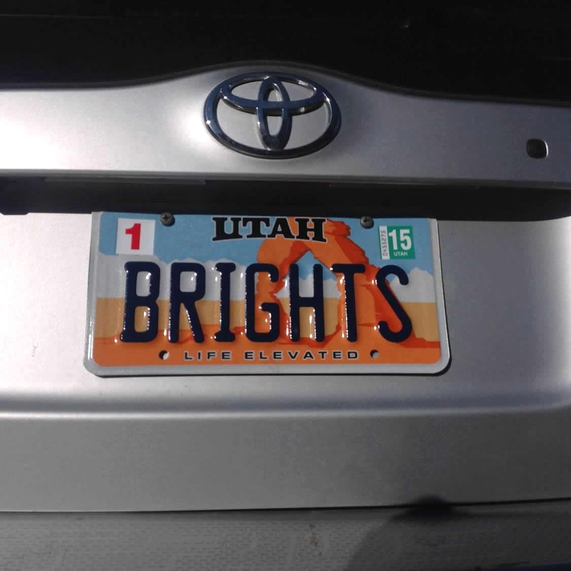 License Plate Utah Brights